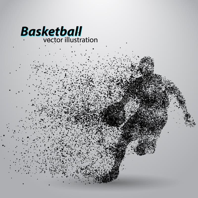 Jogador de basquetebol das partículas ilustração do vetor