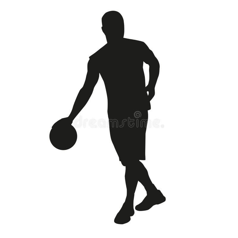 Jogador de basquetebol pingando ilustração royalty free