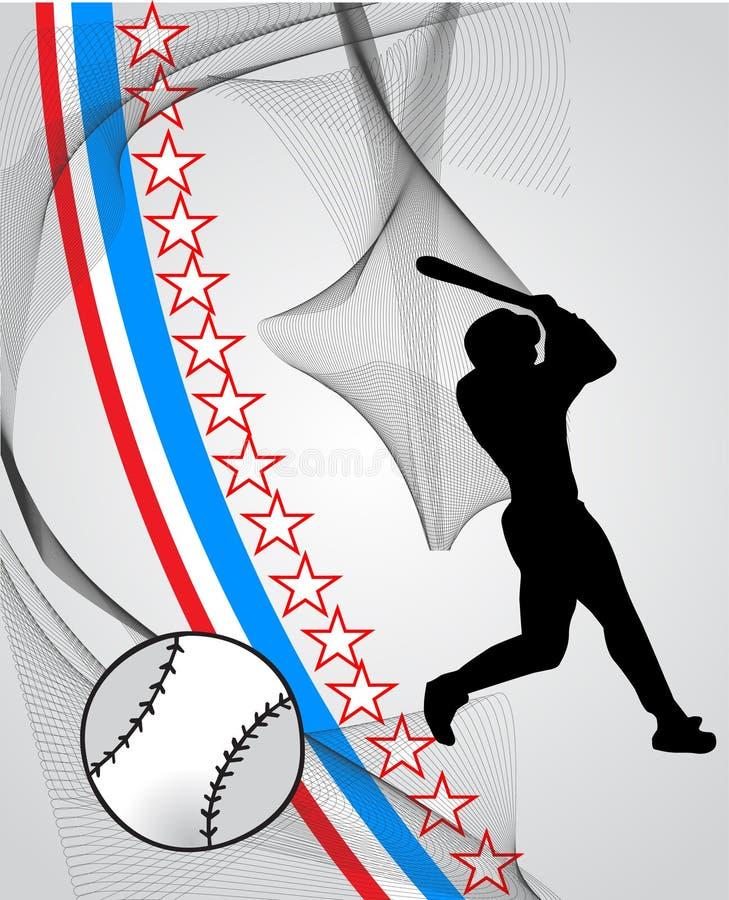 Jogador de beisebol ilustração do vetor