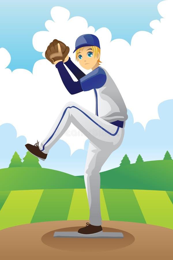Jogador de beisebol ilustração stock