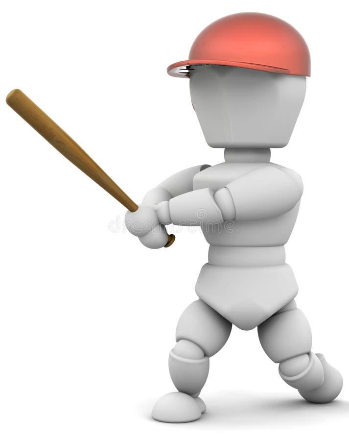 Jogador de beisebol ilustração royalty free