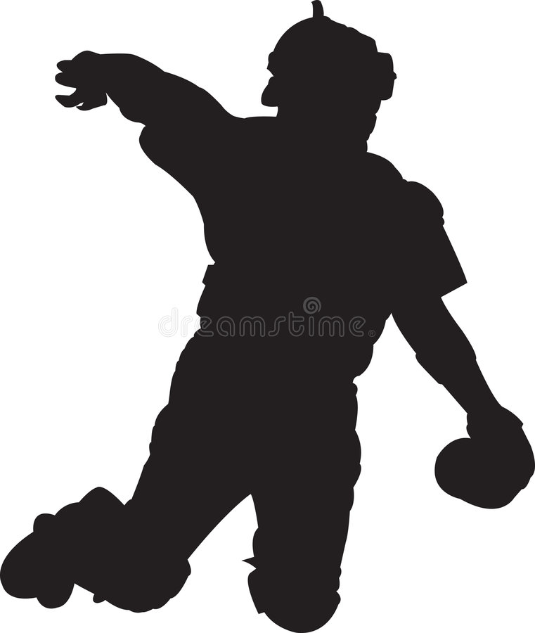 Jogador De Beisebol, Coletor 01 Imagem de Stock