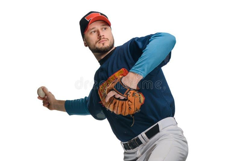 Jogador de beisebol em um passo imagem de stock