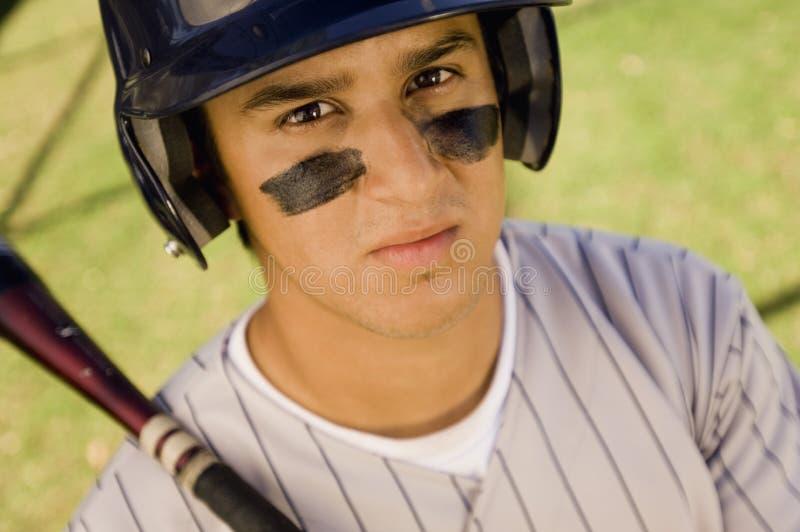 Jogador de beisebol novo fotografia de stock royalty free