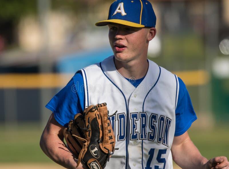 Jogador de beisebol novo imagens de stock royalty free