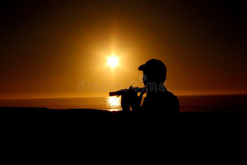 Jogador de flauta da rua foto de stock royalty free