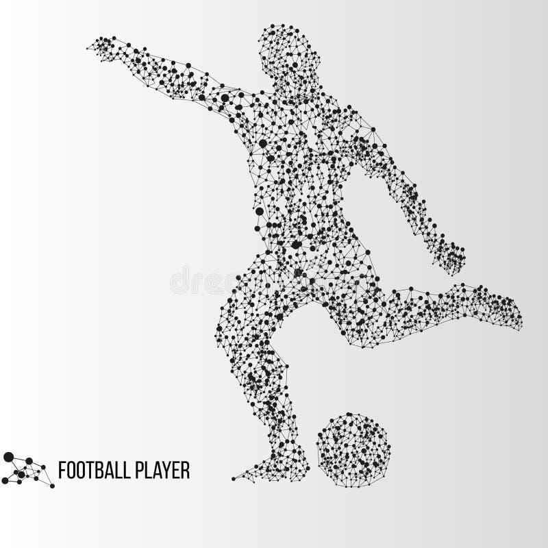 Jogador de futebol abstrato ilustração stock