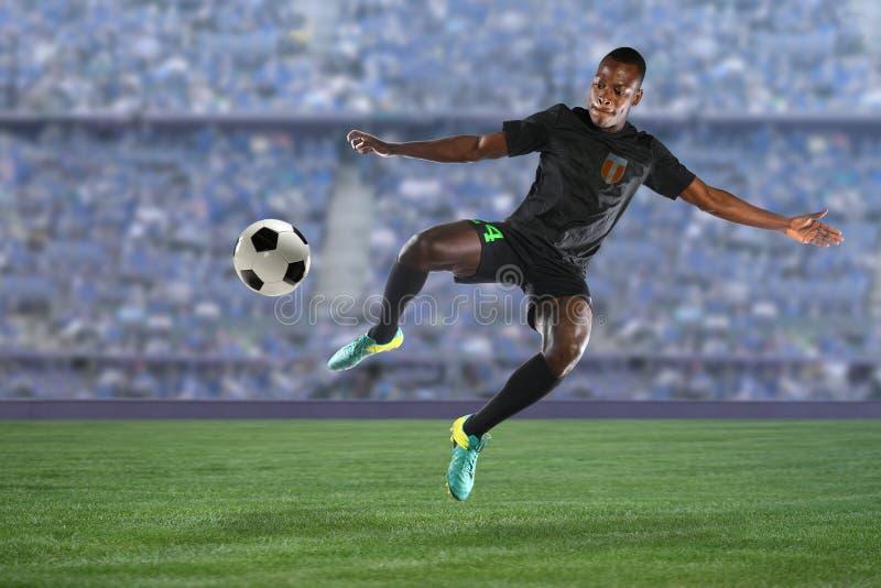 Jogador de futebol afro-americano imagens de stock royalty free
