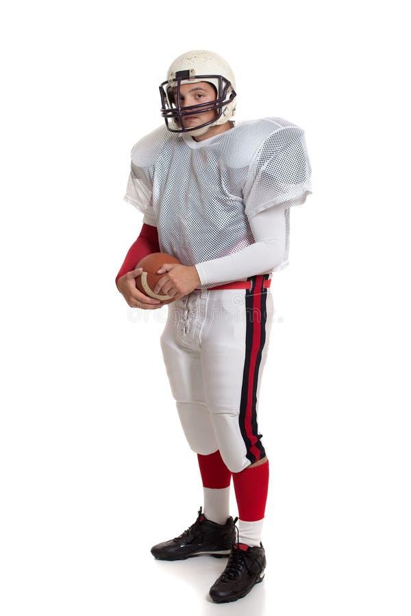 Jogador de futebol americano. foto de stock