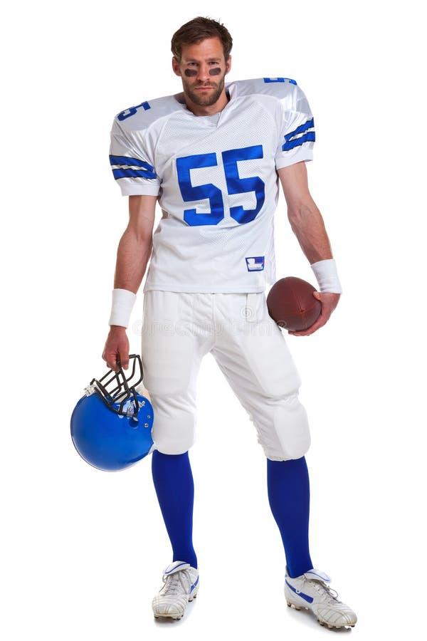 Jogador de futebol americano cortado imagem de stock royalty free