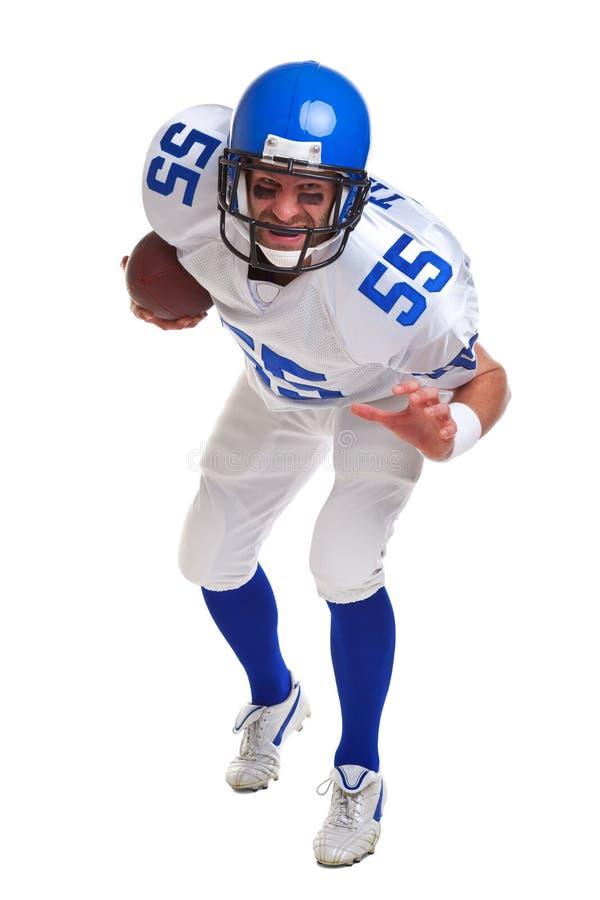 Jogador de futebol americano cortado fotografia de stock royalty free