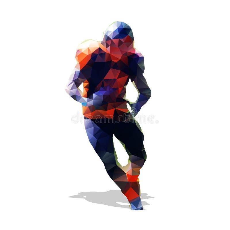 Jogador de futebol americano Homem running abstrato ilustração royalty free