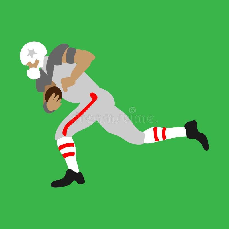 Jogador de futebol americano que corre transversalmente ilustração royalty free