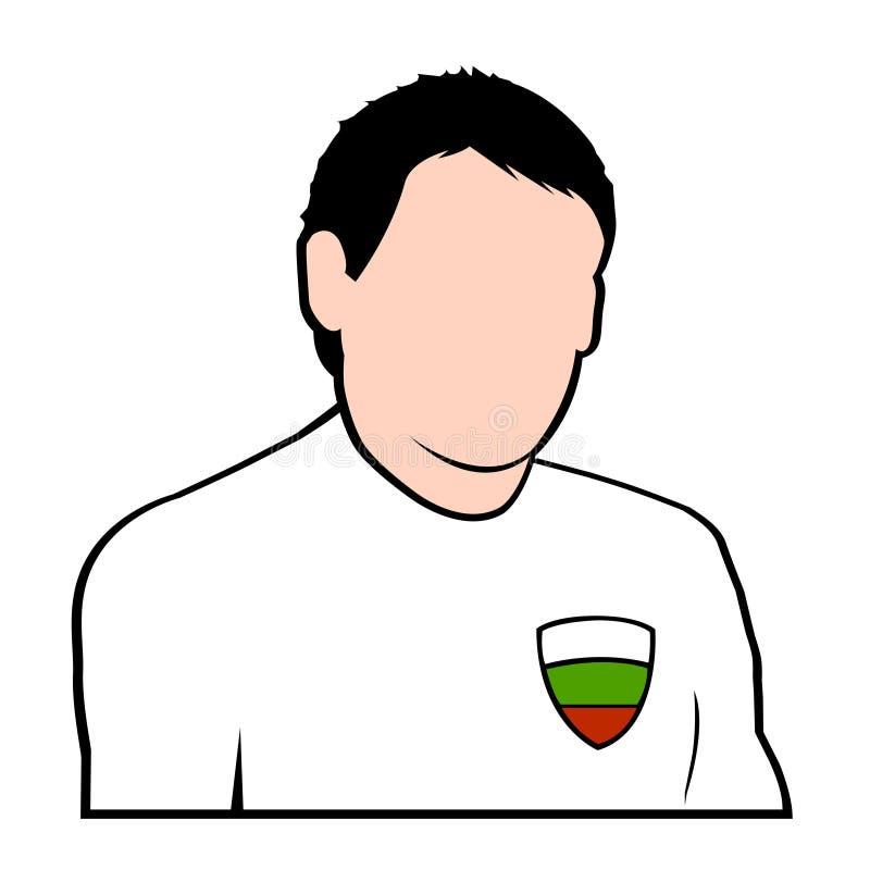 Jogador de futebol búlgaro ilustração do vetor