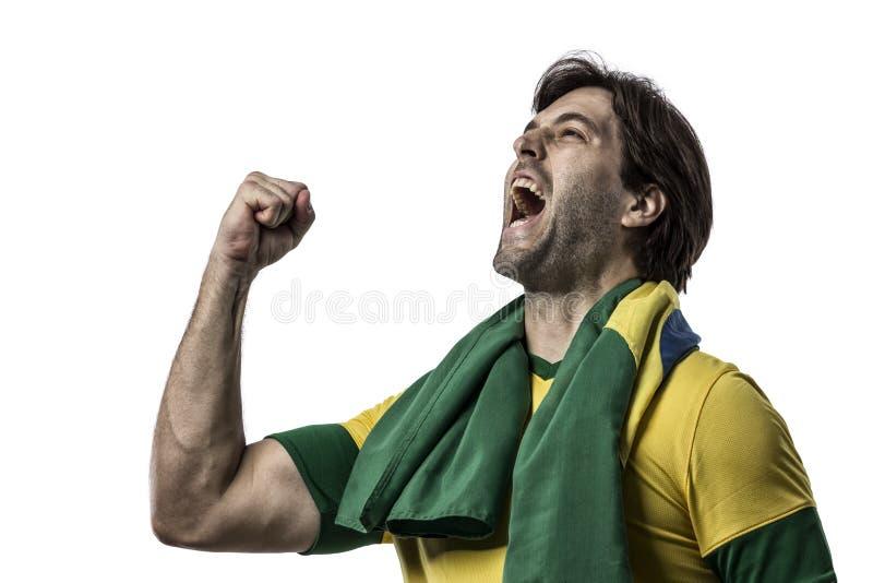 Jogador de futebol brasileiro imagens de stock