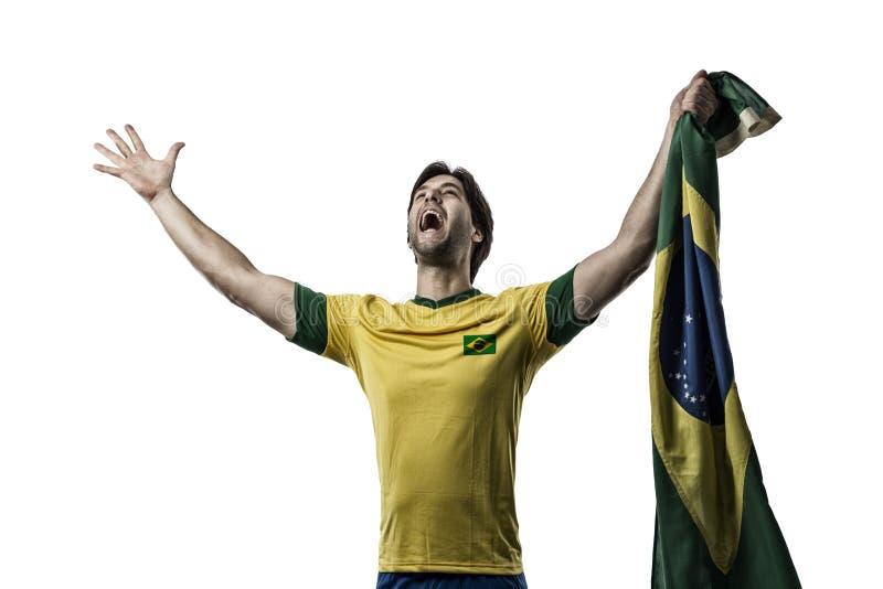 Jogador de futebol brasileiro imagem de stock royalty free