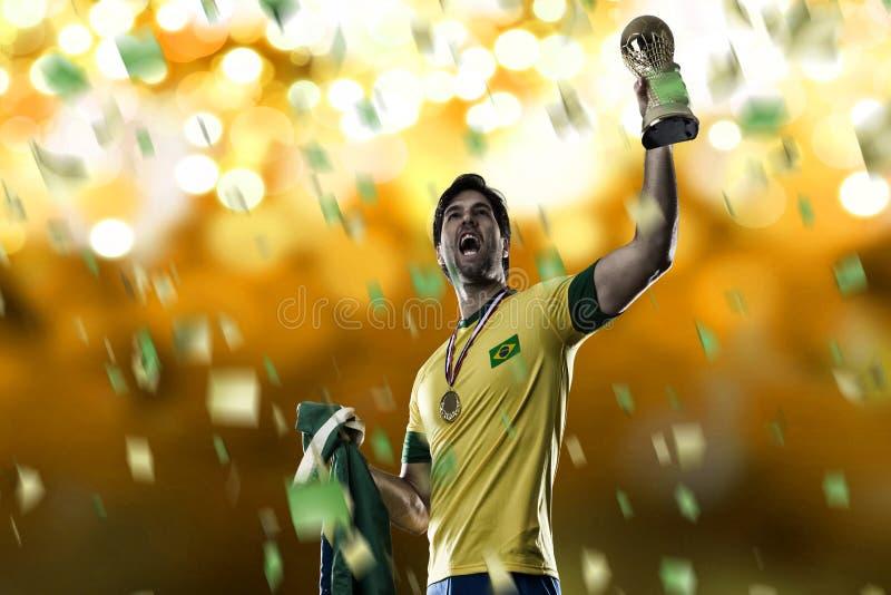 Jogador de futebol brasileiro imagens de stock royalty free