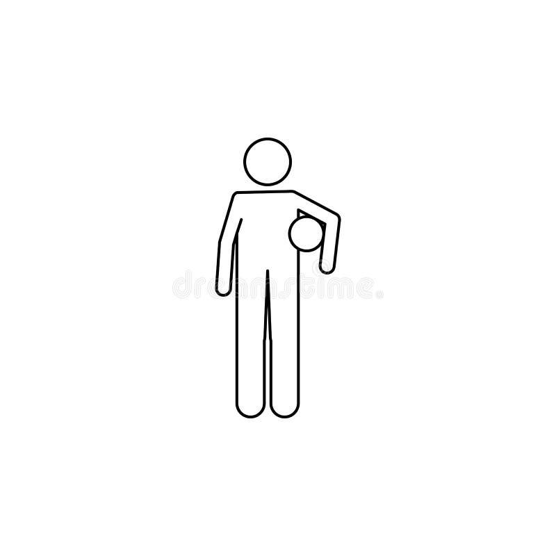 jogador de futebol com a bola em seu ícone das mãos Elemento do campeonato do mundo 2018 do futebol para apps móveis do conceito  ilustração stock