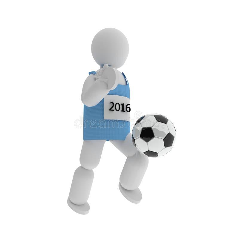 Jogador de futebol, 3d ilustração royalty free
