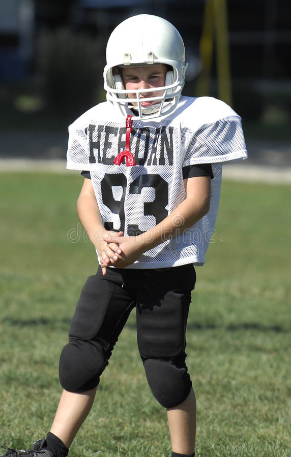 Jogador de futebol da juventude foto de stock royalty free