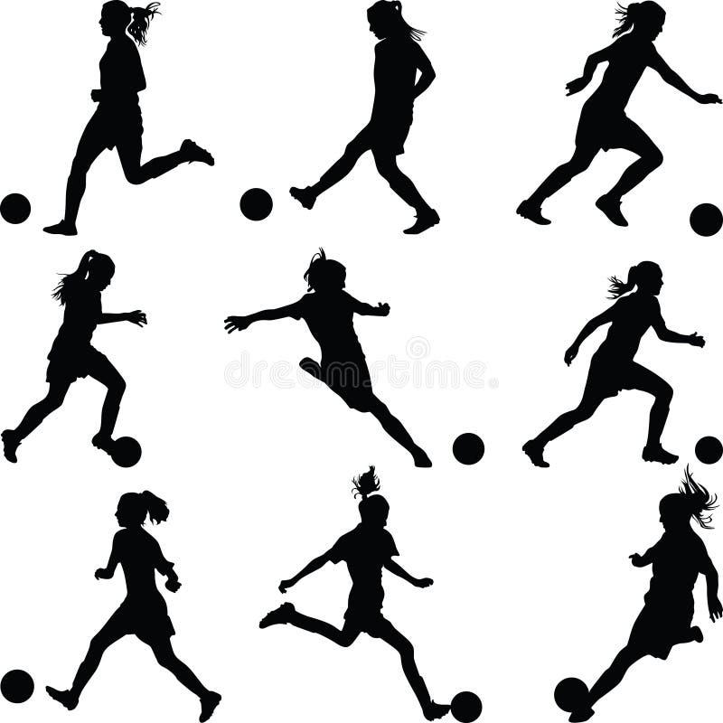 Jogador de futebol da mulher imagem de stock royalty free