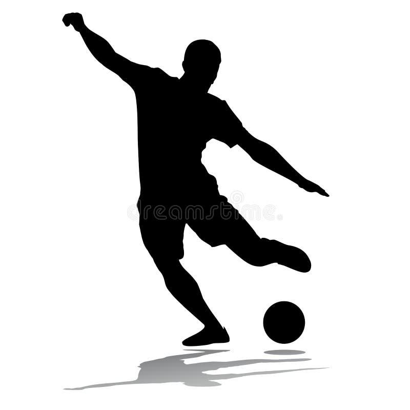 Jogador de futebol da silhueta ilustração do vetor