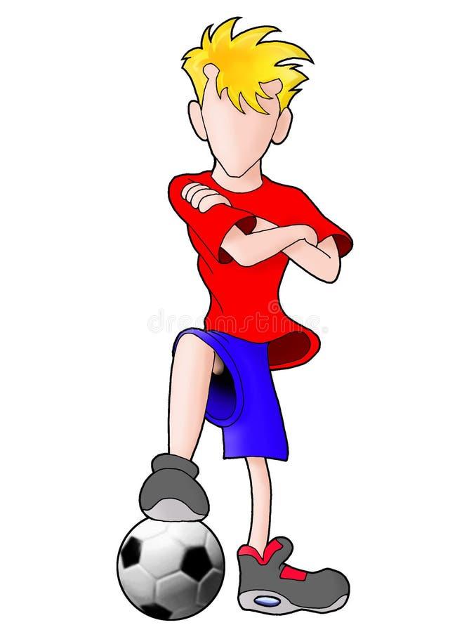 Jogador de futebol de Futsal na ação ilustração do vetor