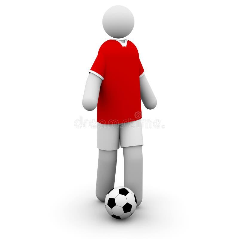 Jogador de futebol de Manchester United ilustração royalty free