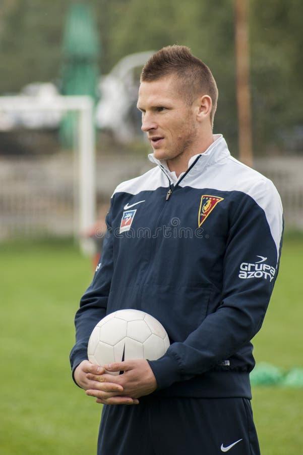 Jogador de futebol de Marcin Robak do Polônia de Pogon Szczecin imagem de stock royalty free