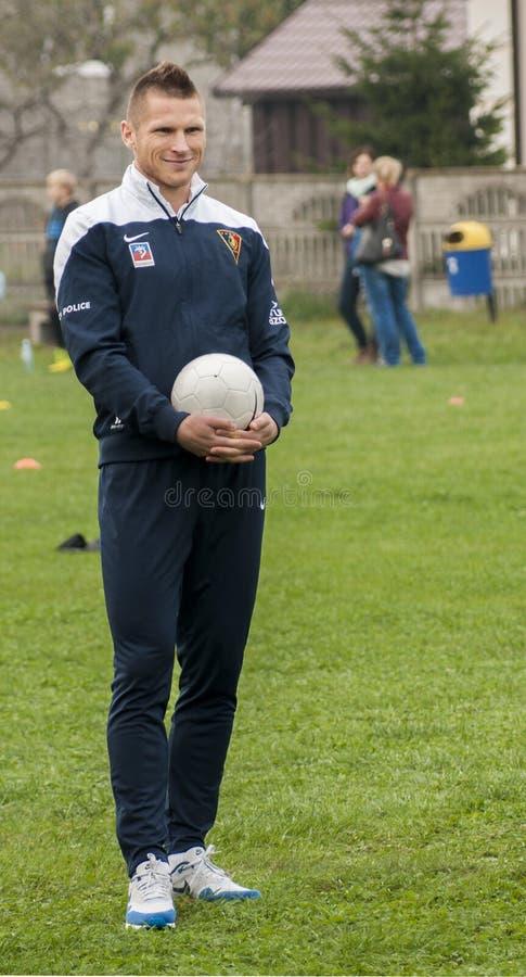 Jogador de futebol de Marcin Robak do Polônia de Pogon Szczecin imagens de stock