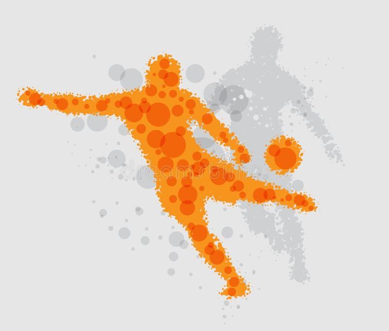 Jogador de futebol do futebol ilustração stock