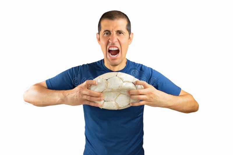 Jogador de futebol do vencido foto de stock royalty free