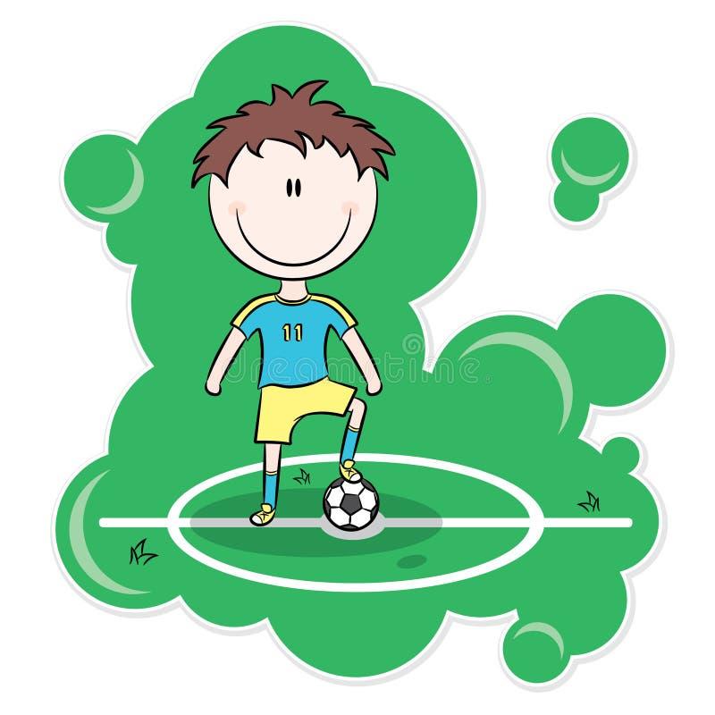 jogador de futebol dos desenhos animados ilustra o do