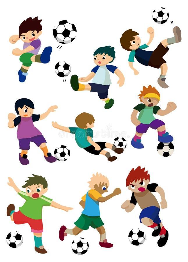 Jogador de futebol dos desenhos animados ilustração stock