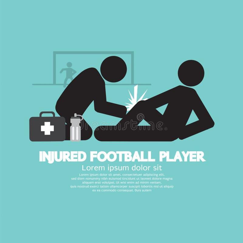 Jogador de futebol ferido ilustração royalty free