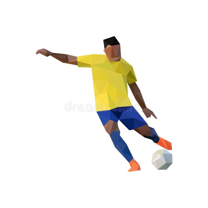 Jogador de futebol que retrocede a bola ilustração stock