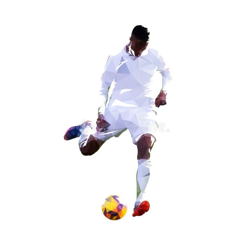 Jogador de futebol que retrocede a esfera Sumário europeu po do jogador de futebol ilustração do vetor