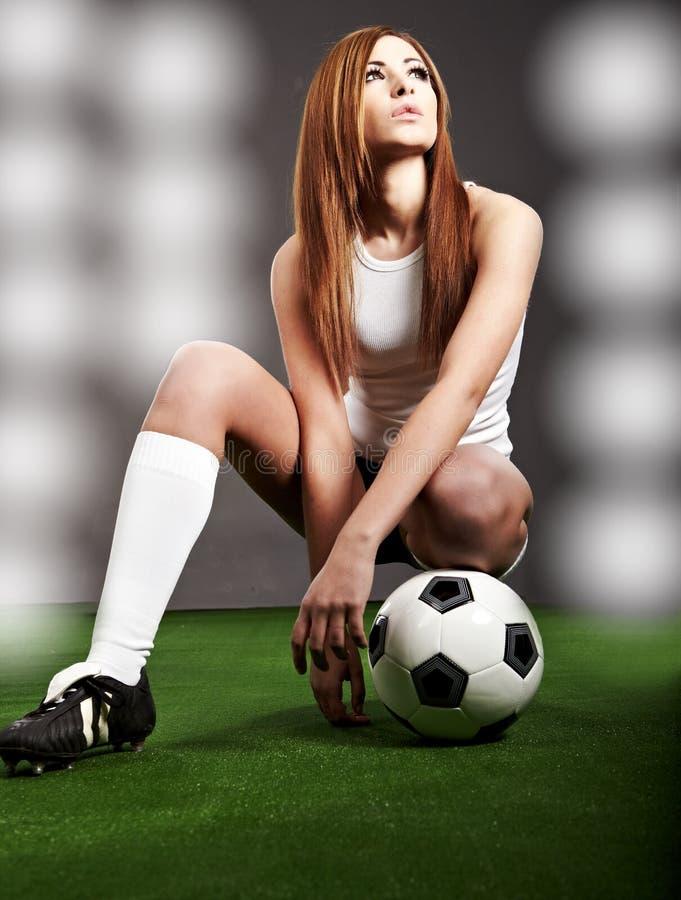 Jogador de futebol 'sexy' imagens de stock
