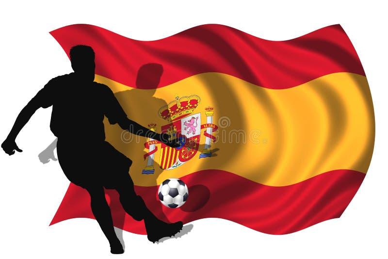 Jogador de futebol Spain ilustração royalty free