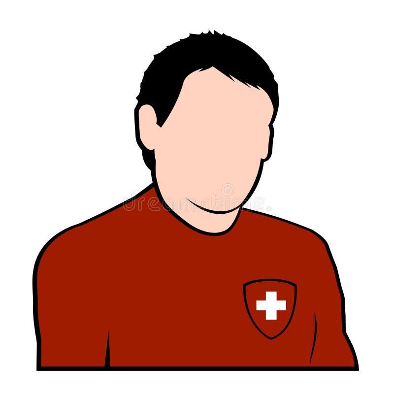Jogador de futebol suíço ilustração do vetor