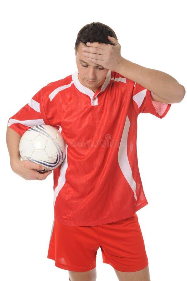 Download Jogador De Futebol Virado No Formulário Vermelho. Imagem de Stock - Imagem de competição, povos: 16855349