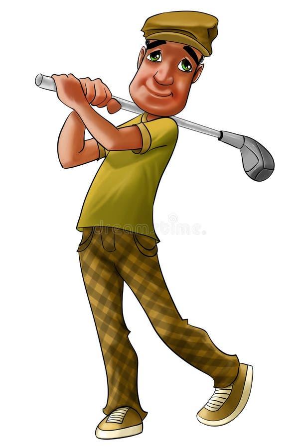 Jogador de golfe ilustração do vetor