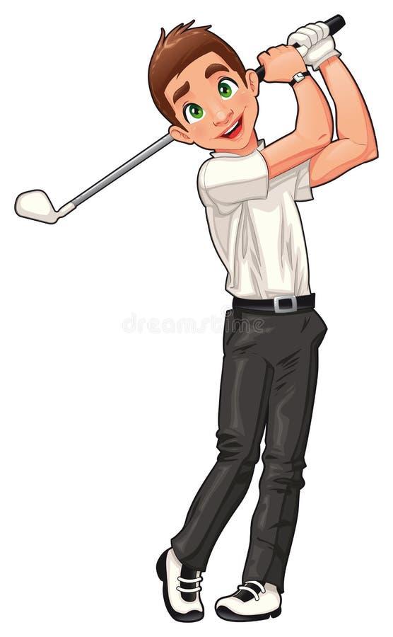 Jogador de golfe. ilustração royalty free