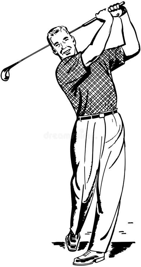 Jogador de golfe 2 ilustração do vetor