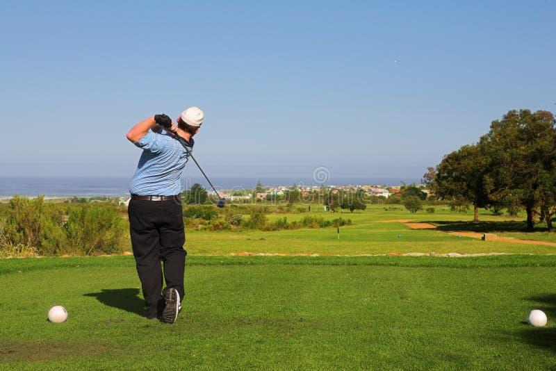 Jogador de golfe #62 imagem de stock