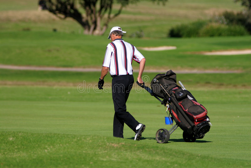 Jogador de golfe imagem de stock royalty free