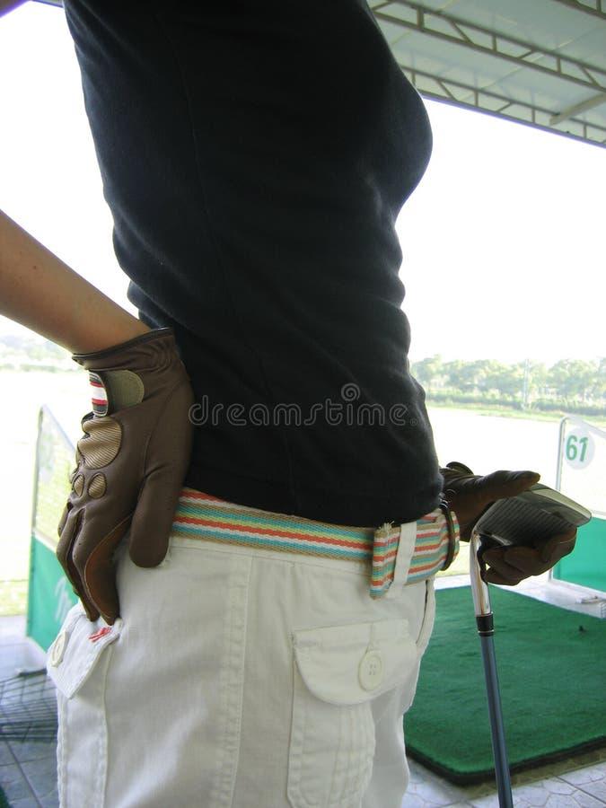 Jogador de golfe fêmea fotos de stock royalty free