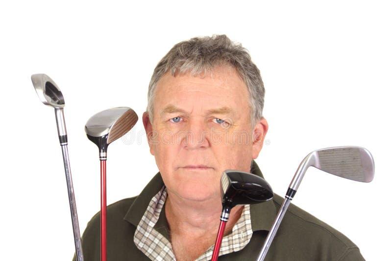Jogador de golfe irritado imagem de stock royalty free