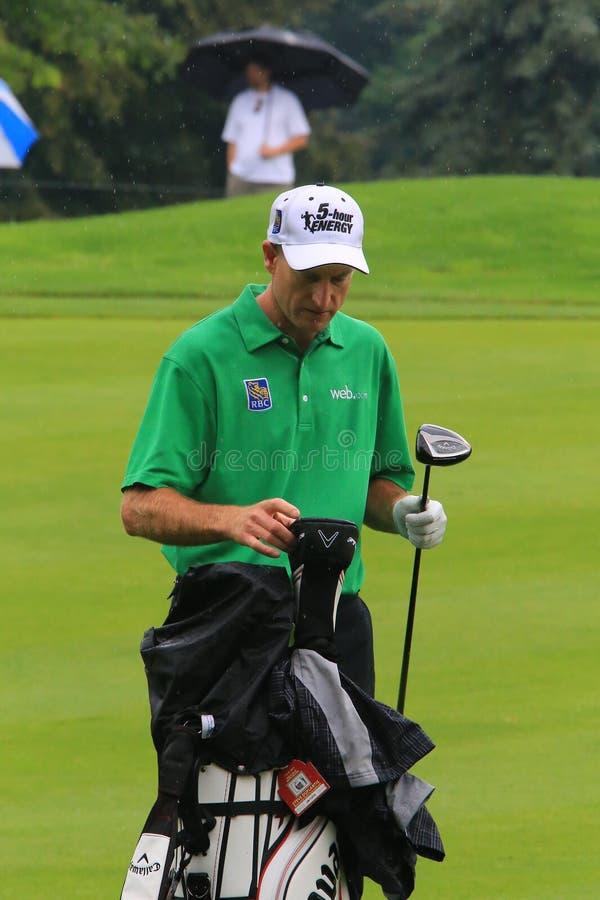 Jogador de golfe Jim Furyk imagem de stock