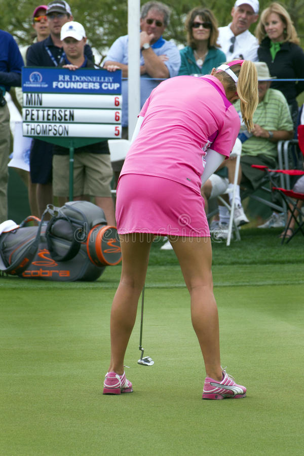 Jogador de golfe Lexi Thompson das mulheres de LPGA fotografia de stock royalty free